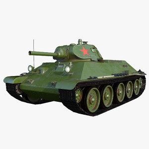 t-34 76 1940 3D model