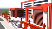 3d model administrative building