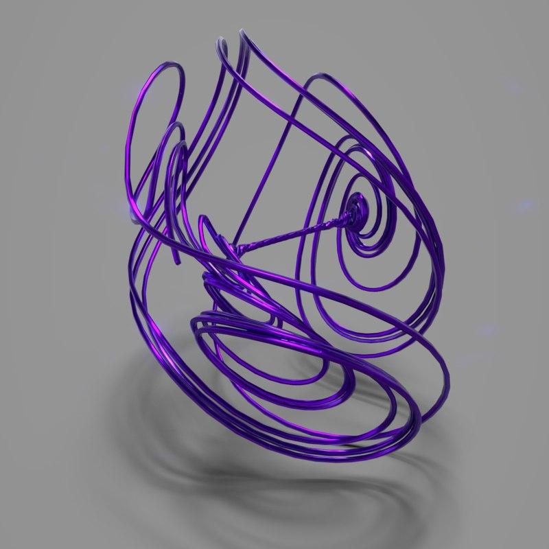 tsucs strange attractor 3D model