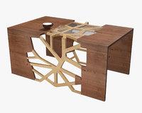 3D branching table model