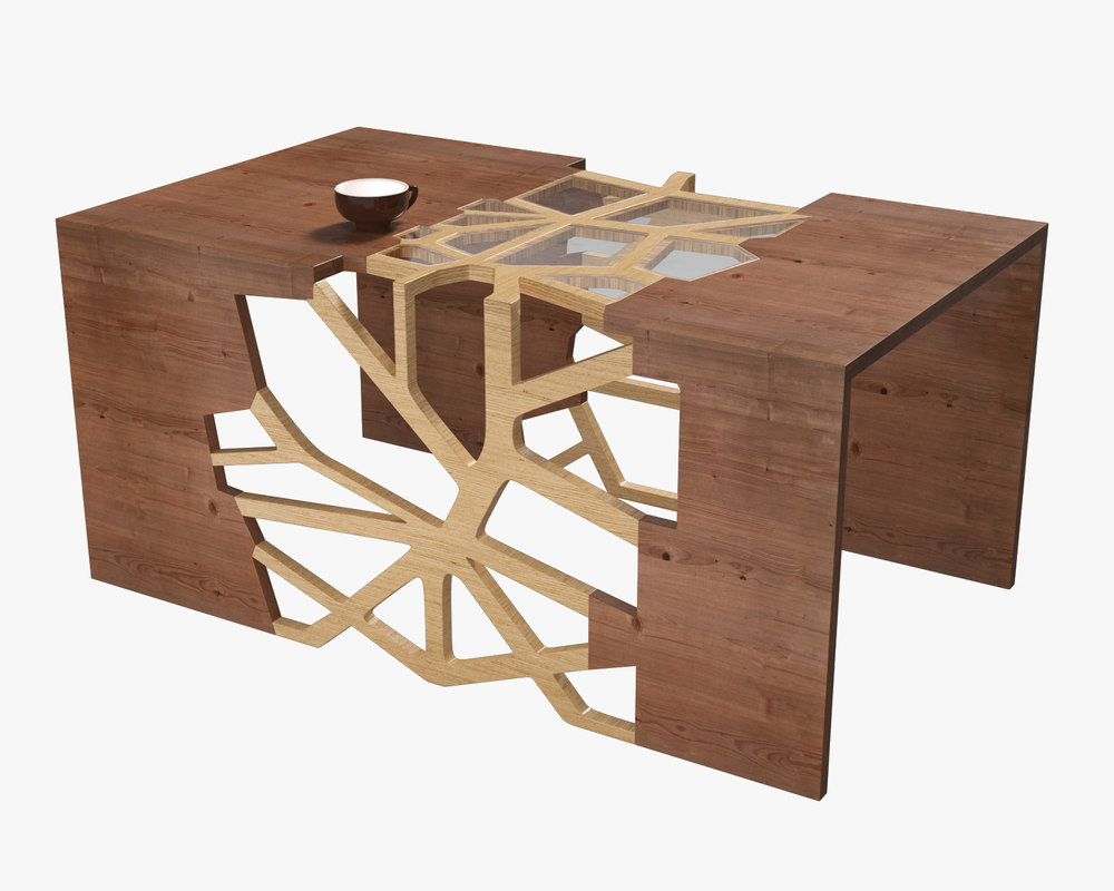 3D branching table model