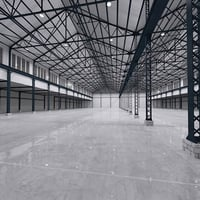 3D interior warehouse