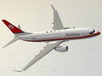 3D boeing 737-700 meridiana model