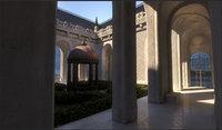 internal courtyard castle 2a model