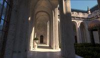 Conceptual Castle Internal Courtyard Low Poly PBR Part 2