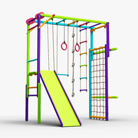 3D kid playground equipment koala