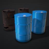 Oil Barrels ( 2 Types + 2 Materials )