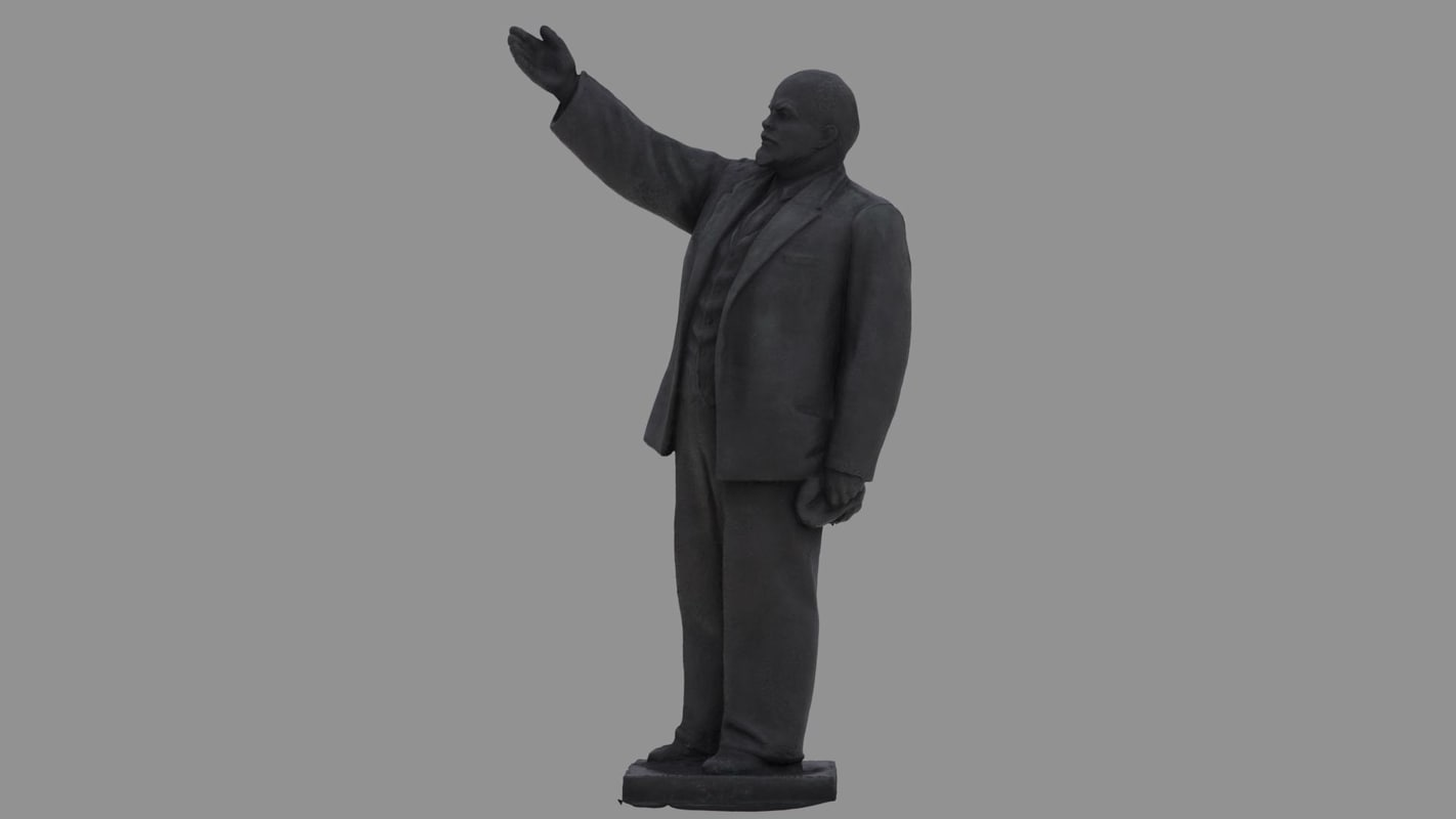 3D lenin statue