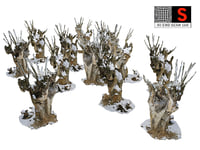 spooky winter forest 3D model