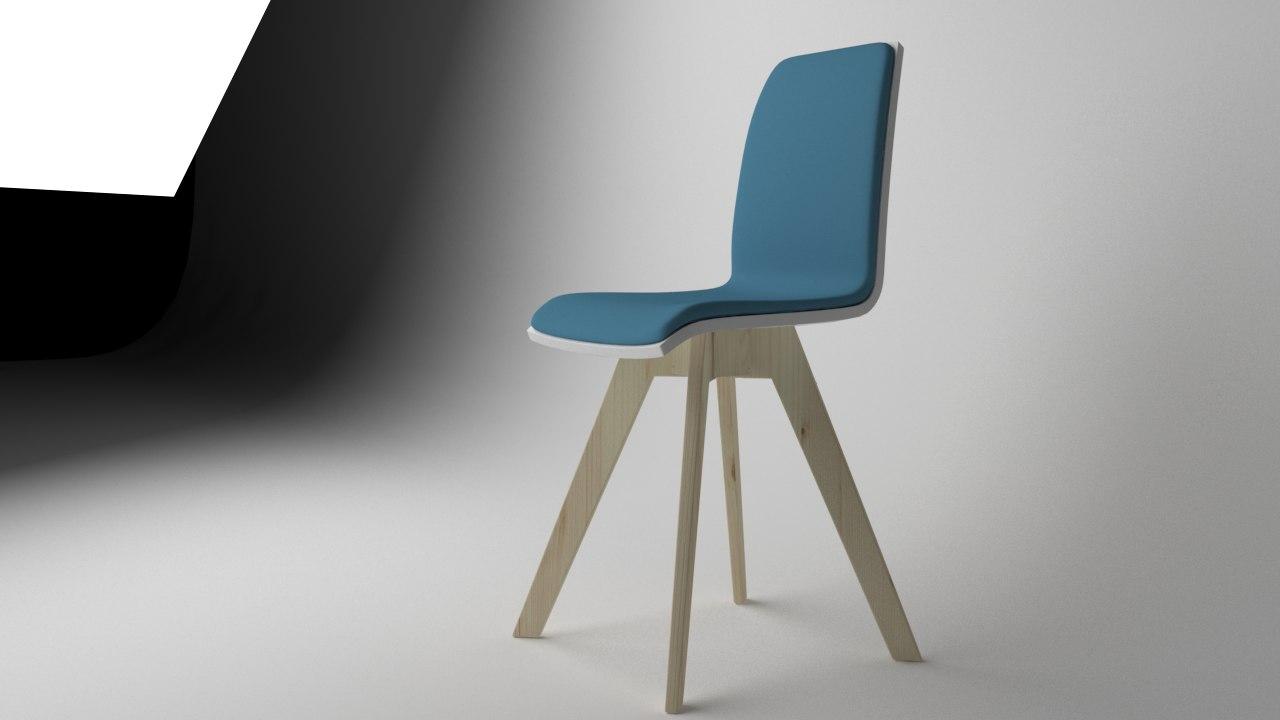 3D modern chair mocka