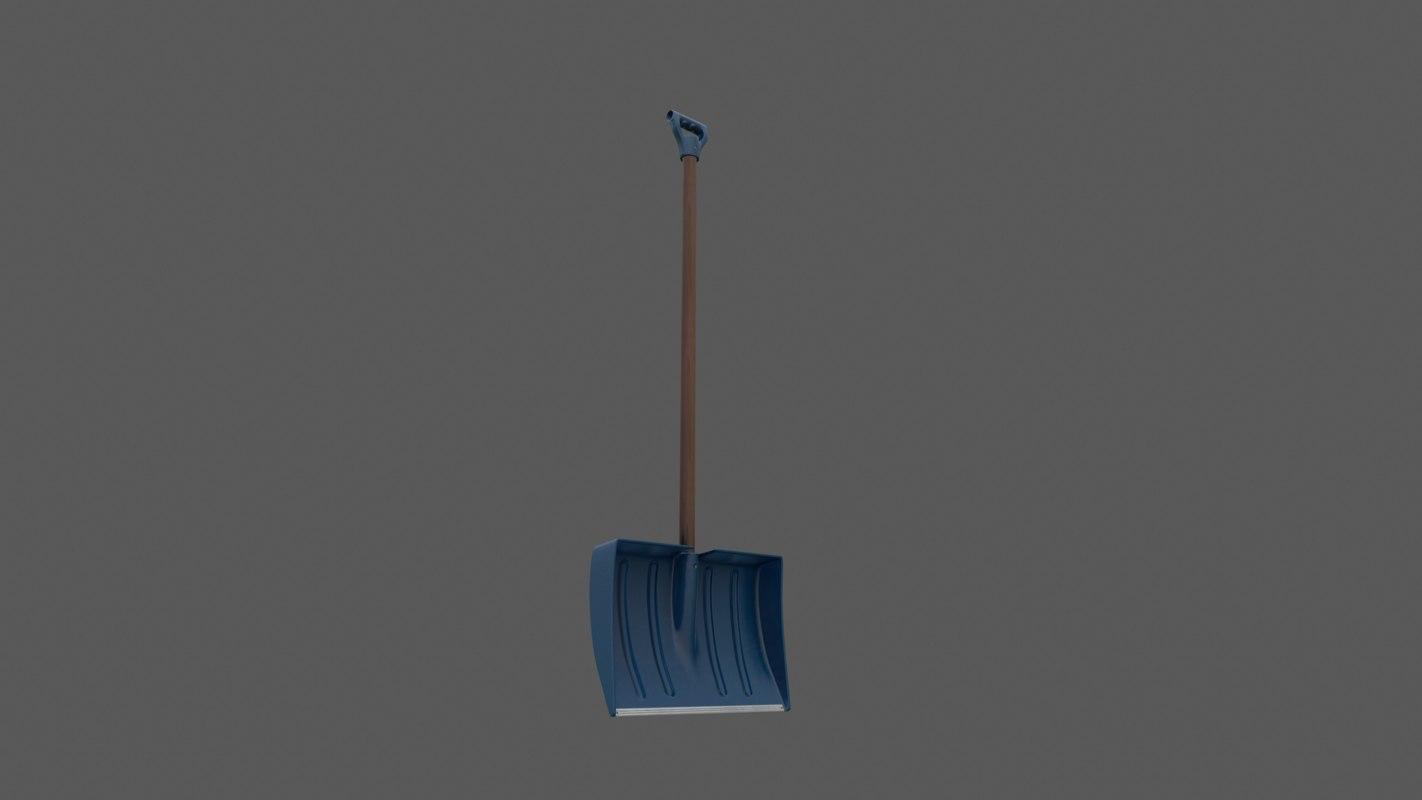 3D plastic shovel