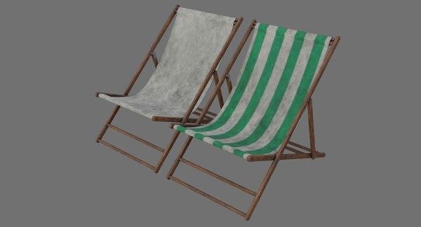 beach chair 1b 3D model