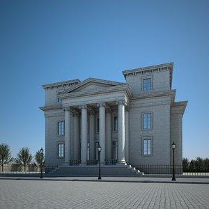 3D classic building model