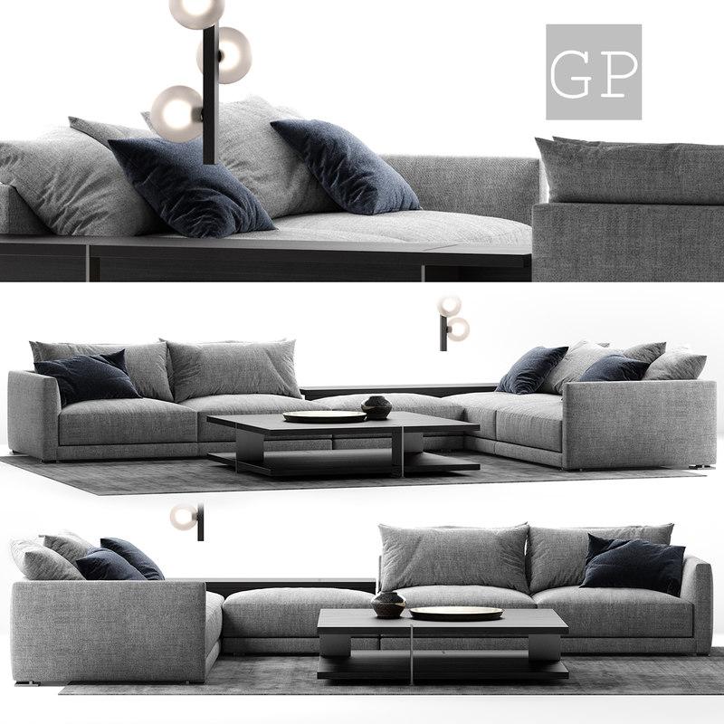 poliform bristol sofa composition 3D model