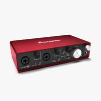 3D model audiointerface focusrite 2i4