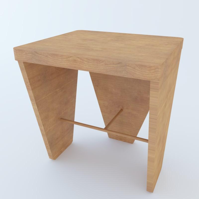 3D modern stool model