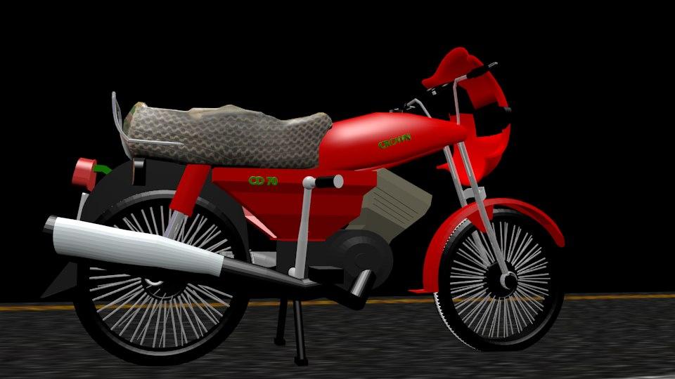 3D crown motorcycle