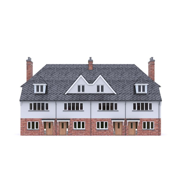3D english brick house model