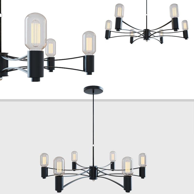 3D chandelier loft droplet 6