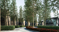 2 tree 3D model