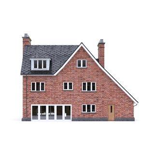 3D english brick house