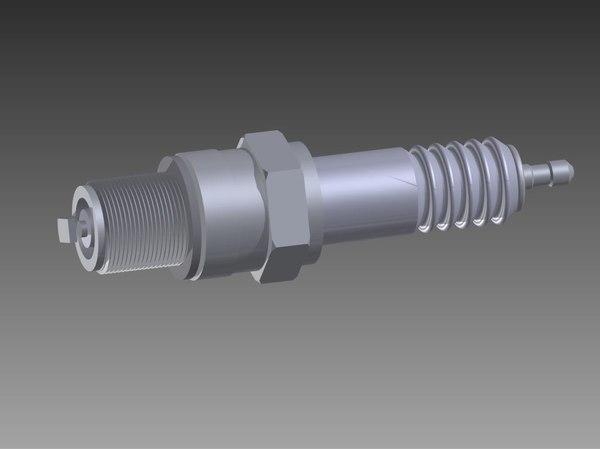 3D spark plug modeled