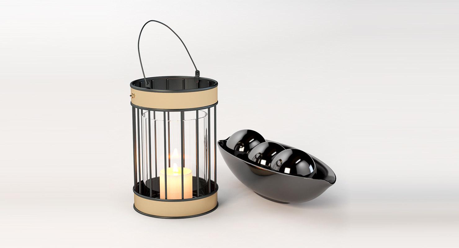 tea decor bowl 3D model