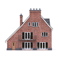 3D english brick house