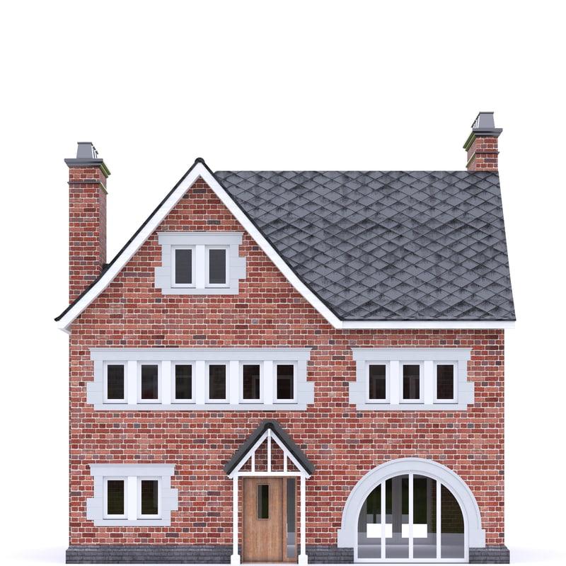 3D model english brick house