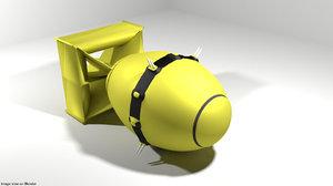 atom bomb fat 3D model