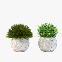 Modern Cozy Table Top Decoration Centerpiece Planter of Fake Green Grass Plants
