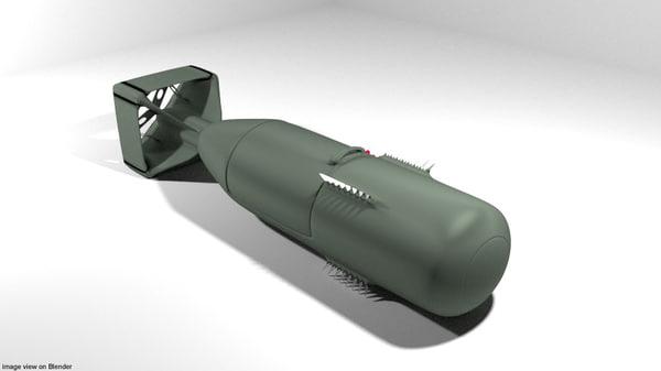 atomic bomb little 3D model