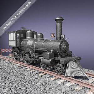 3D baldwin steam locomotive model
