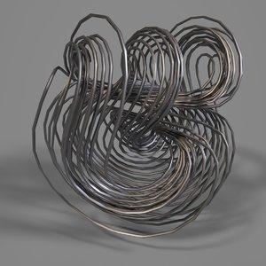 3D model hoover strange attractor