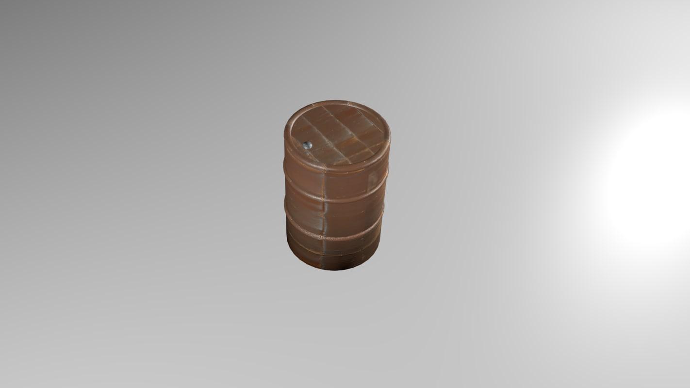 3D rusty barrel