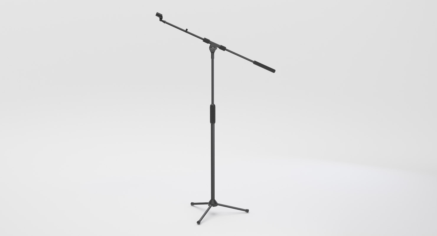 stage microphone stand 3D model