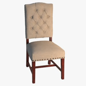 padded dining chair 3D