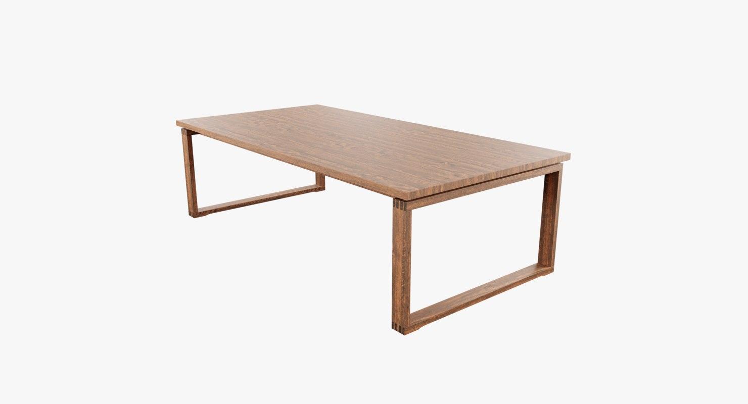 3D table oakwood