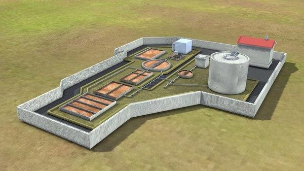 3D model sewage treatment