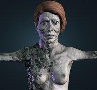 Zombie elderly woman