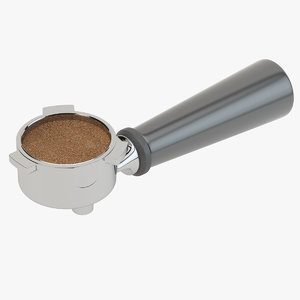 3D portafilter coffee ground