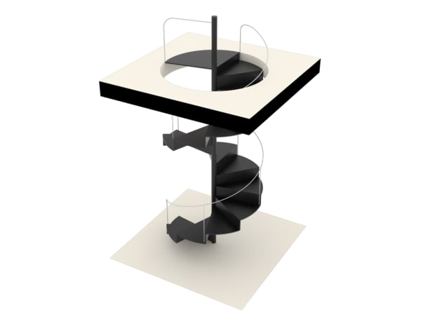 3D definition staircase