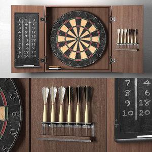 3D darts rh model