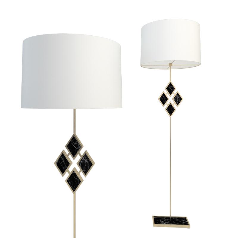 3D robert abbey edward floor lamp