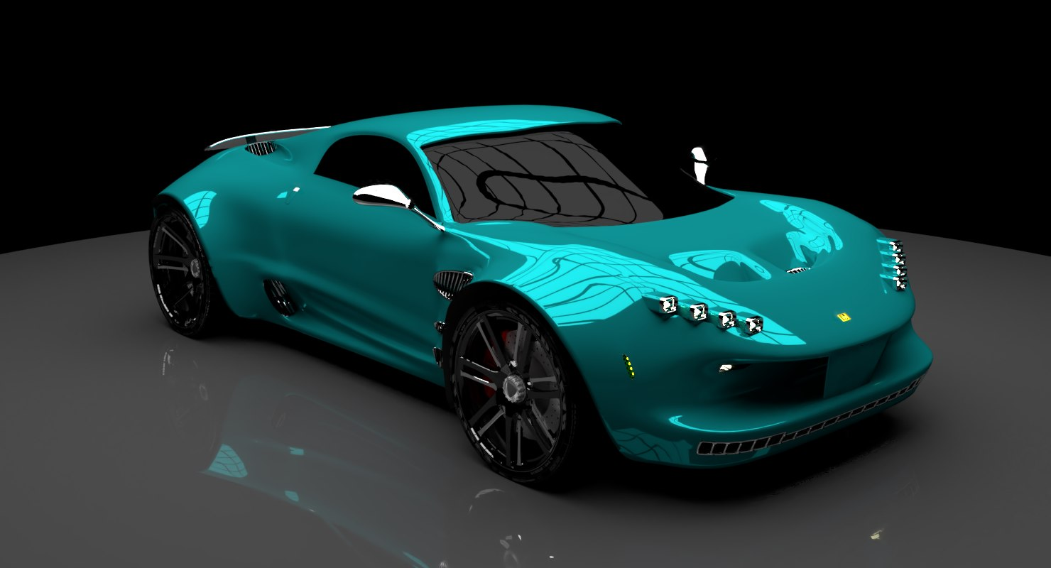 concept supercar car 3D model