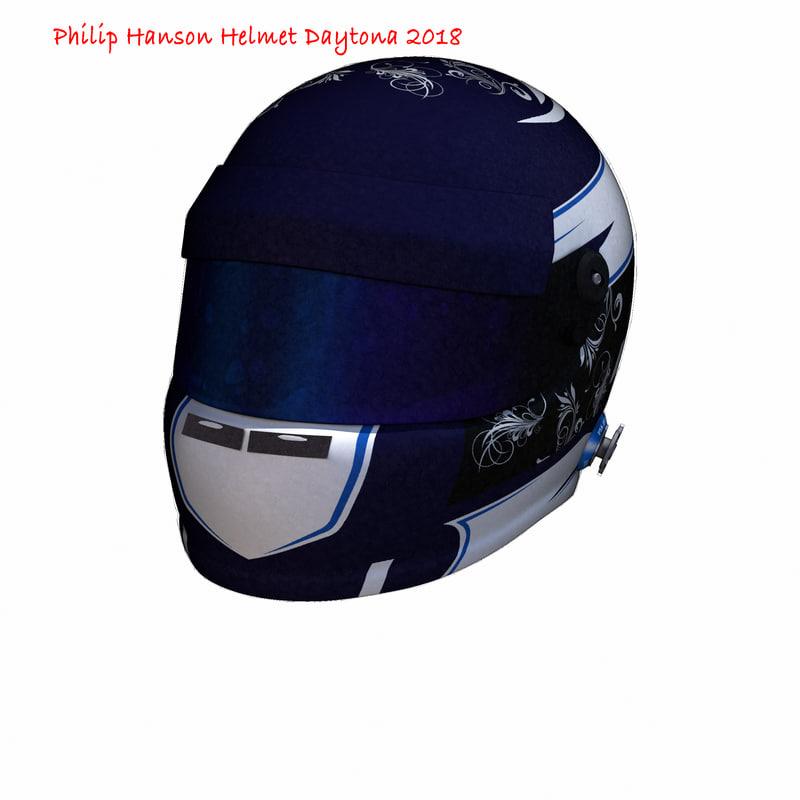 3D hanson daytona helmet