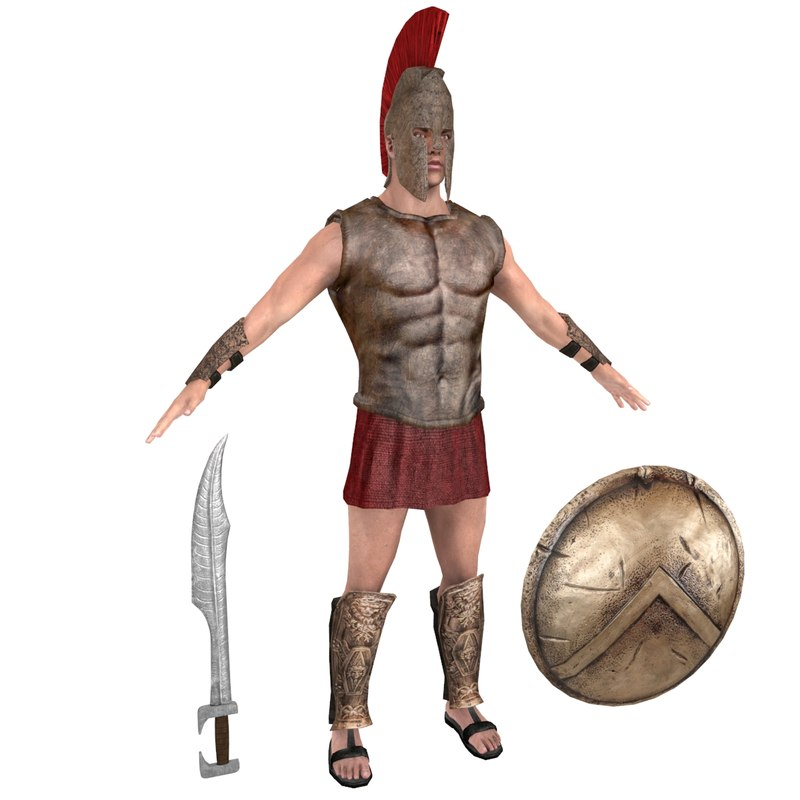 3D model spartan warrior