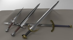 3D kit 1 straight blades model