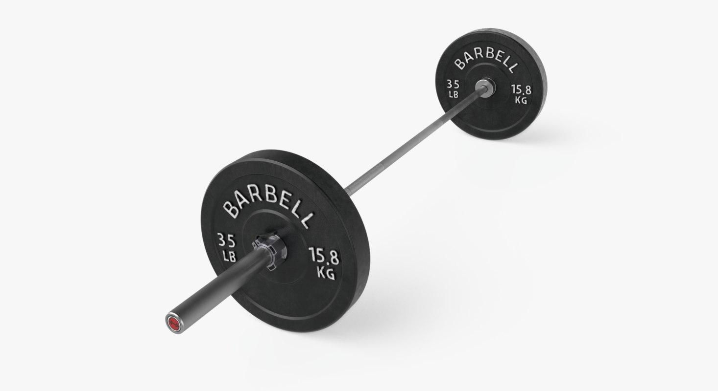 crossfit barbell bar 3d turbosquid 1263131