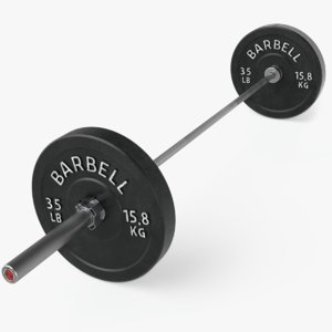 crossfit barbell bar 3D